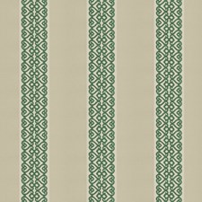 Emerald Embroidery Decorator Fabric by Vervain