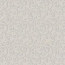 Silver Sparkle Scrollwork Decorator Fabric by Fabricut