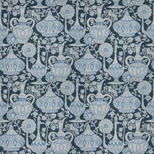 Indigo Asian Decorator Fabric by Fabricut