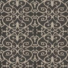 Graphite Lattice Decorator Fabric by Fabricut