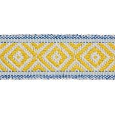 Yellow/amp/Blue Trim by Schumacher