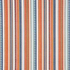 Blue/Orange Decorator Fabric by Schumacher