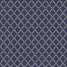 Indigo Diamond Decorator Fabric by Brunschwig & Fils