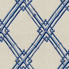 Blue Lattice Decorator Fabric by Brunschwig & Fils