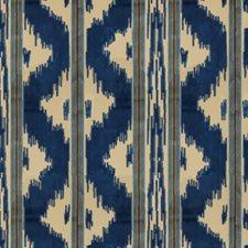 Sapphire Stripes Decorator Fabric by Brunschwig & Fils