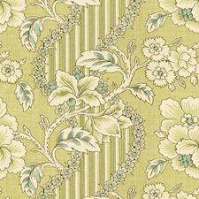 Celadon/Aqua Botanical Decorator Fabric by Brunschwig & Fils