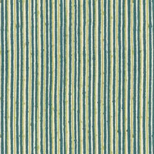 Teal/Apple Stripes Decorator Fabric by Brunschwig & Fils