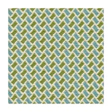 Aqua/Lime Geometric Decorator Fabric by Brunschwig & Fils