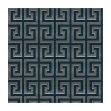Grey/Blue Contemporary Decorator Fabric by Brunschwig & Fils