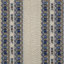 Blue/Gold Decorator Fabric by Brunschwig & Fils