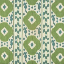 Teal/Green Ikat Decorator Fabric by Brunschwig & Fils