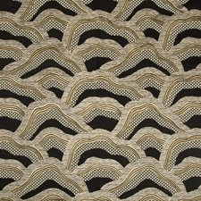 Black/Gold Bargellos Decorator Fabric by Brunschwig & Fils
