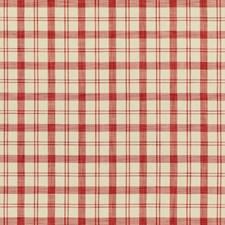 Coral Plaid Decorator Fabric by Brunschwig & Fils