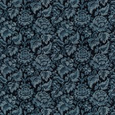 Indigo Damask Decorator Fabric by Brunschwig & Fils