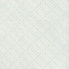 Aqua Geometric Decorator Fabric by Brunschwig & Fils