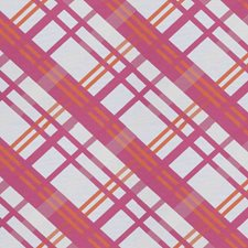 Fuchsia Check Decorator Fabric by Stroheim