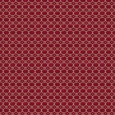 Ruby Geometric Decorator Fabric by Stroheim