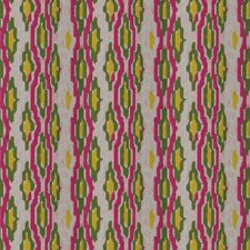 Flamingo Embroidery Decorator Fabric by Stroheim