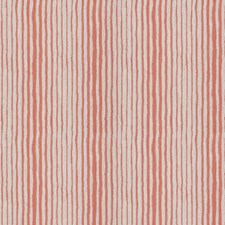 Coral Stripes Decorator Fabric by Stroheim