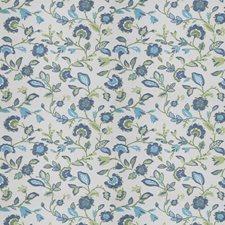 Cobalt Floral Decorator Fabric by Stroheim