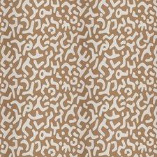 Camel Geometric Decorator Fabric by Stroheim