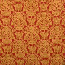 Carnelian Jacquard Pattern Decorator Fabric by S. Harris