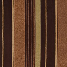 Chocolate Stripes Decorator Fabric by S. Harris
