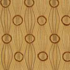 Leaf Gold Jacquard Pattern Decorator Fabric by S. Harris