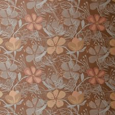 Amberglow Floral Decorator Fabric by S. Harris