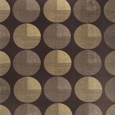 Bronze Coin Geometric Decorator Fabric by S. Harris