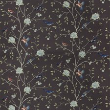 Eggplant Floral Decorator Fabric by Trend