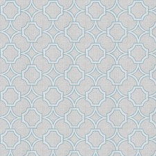 Aqua Lattice Decorator Fabric by Trend