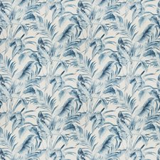 Blue Floral Decorator Fabric by Vervain