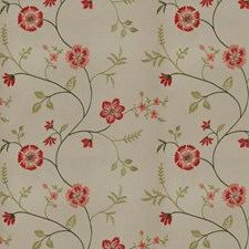 Spice Birch Embroidery Decorator Fabric by Trend