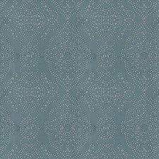 Blue Embroidery Decorator Fabric by Fabricut
