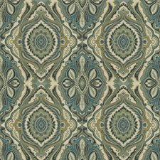 Peacock Jacquard Pattern Decorator Fabric by Trend