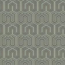 Sky Geometric Decorator Fabric by Trend