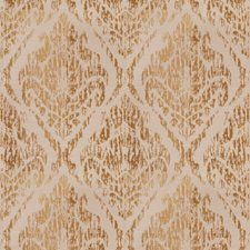 Gold Crewel Decorator Fabric by Trend