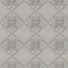 Dove Damask Decorator Fabric by Trend