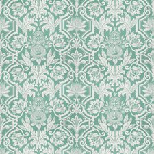 Deep Jade Floral Decorator Fabric by Vervain