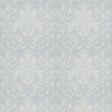 Blue Silver Floral Decorator Fabric by Vervain