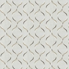 Tan Embroidery Decorator Fabric by Trend
