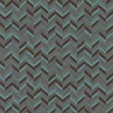 Aqua/Cocoa Geometric Decorator Fabric by Duralee