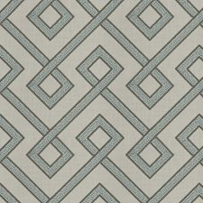 Turquoise Embroidery Decorator Fabric by Fabricut