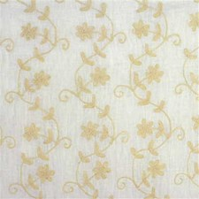 White/Beige Botanical Decorator Fabric by Kravet