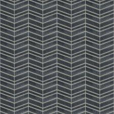 Ink Chevron Decorator Fabric by Trend