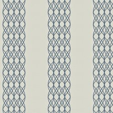 Cobalt Embroidery Decorator Fabric by Stroheim