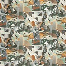 Hunter Jade Geometric Decorator Fabric by S. Harris
