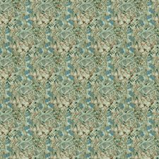 Aqualine Floral Decorator Fabric by S. Harris