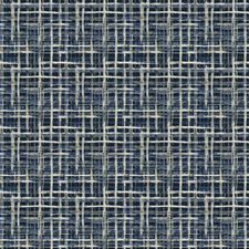 Cobalt Jacquard Pattern Decorator Fabric by Fabricut
